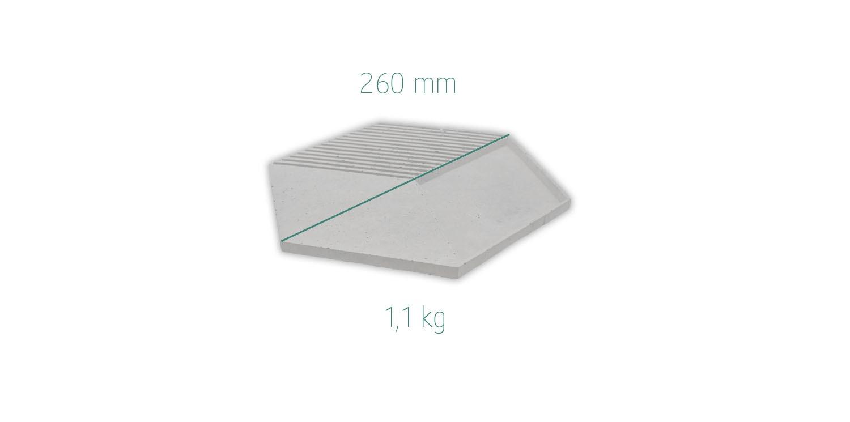 Maße Beton Servierplatte