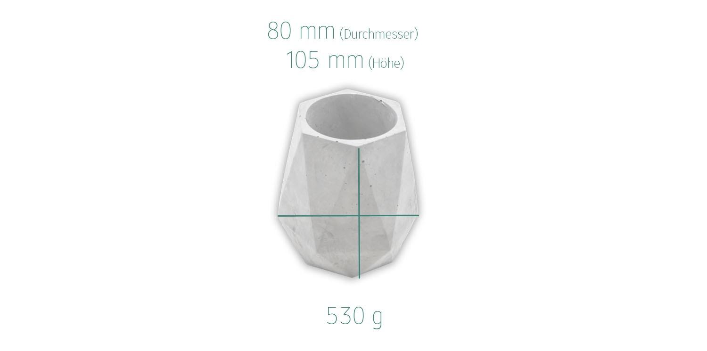 Maße Beton Vase