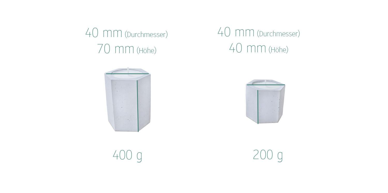 Maße candle Betonkerzenhalter